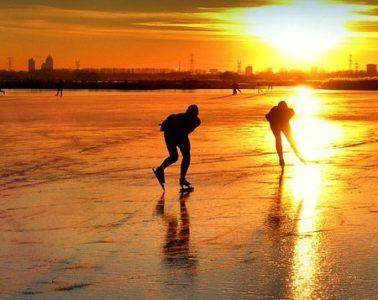 Ice skating schaatsen